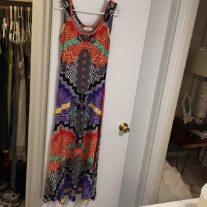 Bright patterned maxi dress